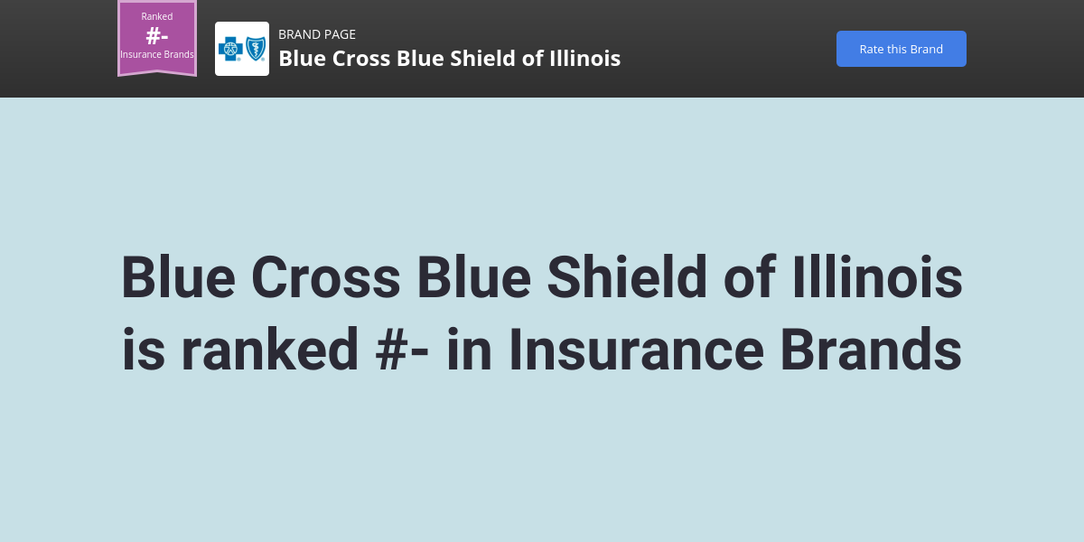 Blue Cross Blue Shield of Illinois Brand | Comparably