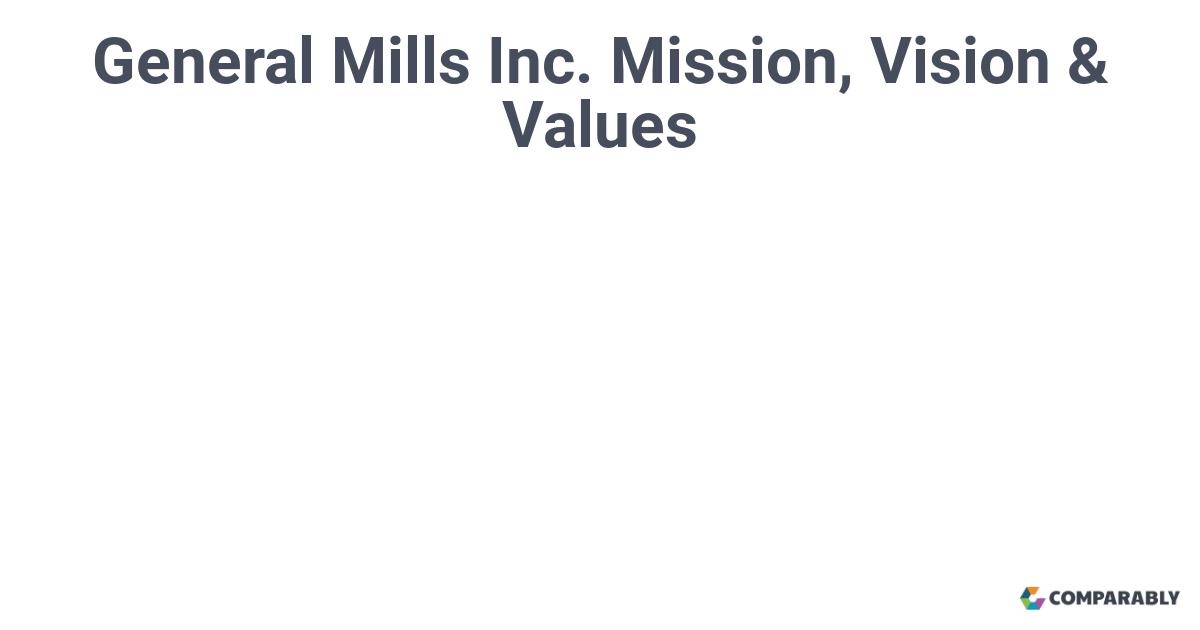 general mills vision