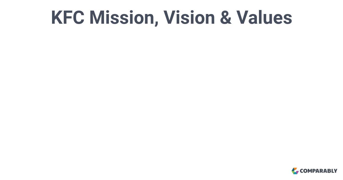 kfc vision statement